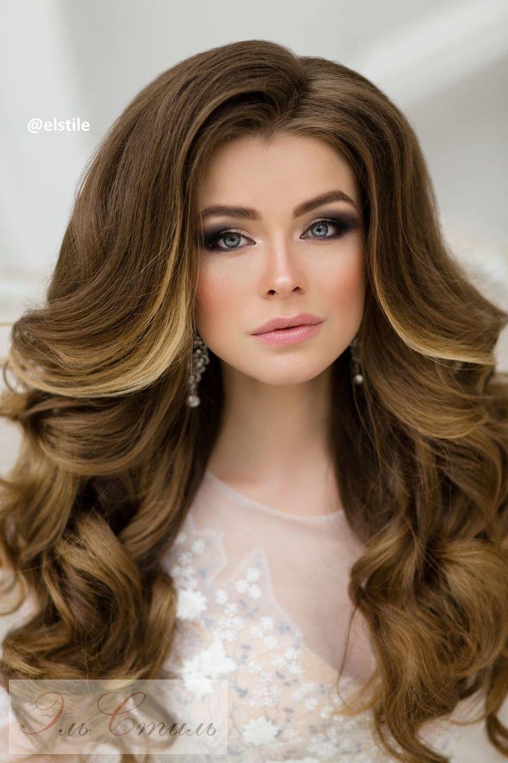 Фото объемных укладок на длинные волосы