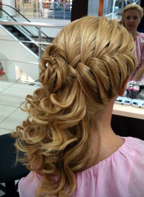 Прически плетения на длинные волосы фото