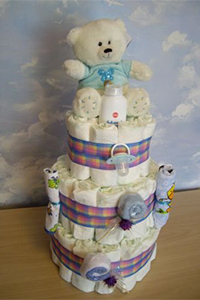 Оформление праздничного торта из памперсов всего от 4 руб.
