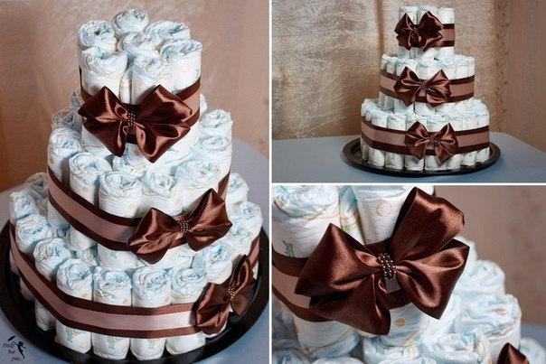 Как делать торты из памперсов своими руками пошагово